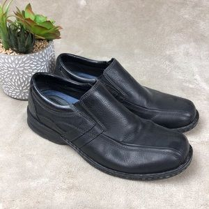 Dockers Mens Black Leather Bicycle Toe Loafers
